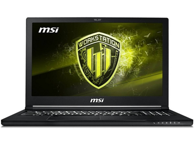 Portátil Gaming MSI WS63 8SLVPRO-013ES (Intel Core i7-8850H - NVIDIA Quadro P4200 - RAM: 32 GB - 1 TB HDD + 512 GB SSD - 15.6'')