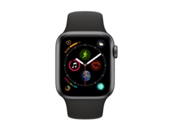 APPLE Watch S4 GPS (LTE) 40 mm Aluminio en Gris Espacial y Correa Deportiva Negra