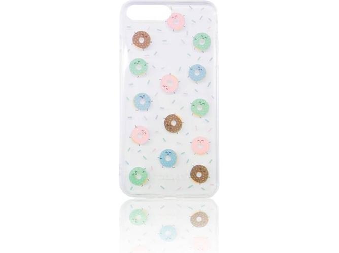 83855236735 Carcasa iPhone 7 Plus, 8 Plus MR. WONDERFUL Mini Rosquillas Multicolor