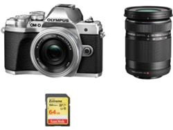 Kit Cámara Mirrorless OLYMPUS E-M10 III 14-42mm F3.5-5.6 EZ ED 40-150mm F4-5.6R + 64GB SD