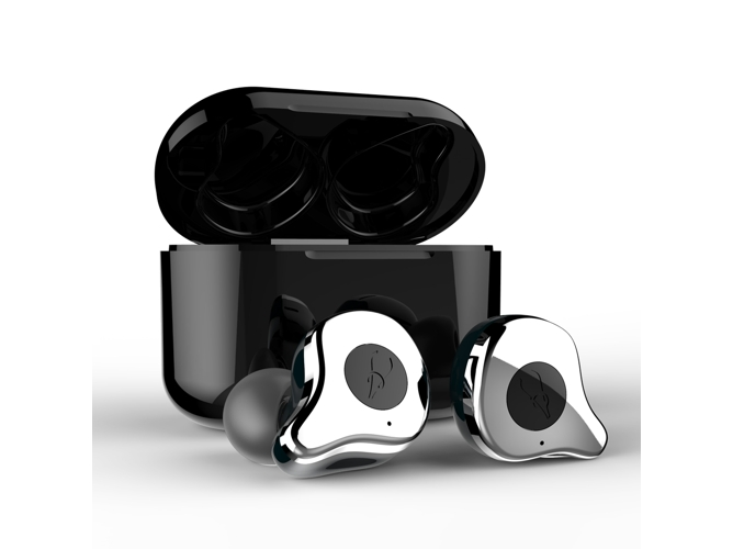 Auriculares Bluetooth True Wireless KLACK E12 Sabbat TWS (In Ear - Plateado)