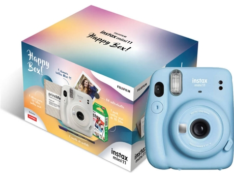 Kit Cámara Instantánea FUJIFILM Instax Mini 11 Happy Box Sky Blue