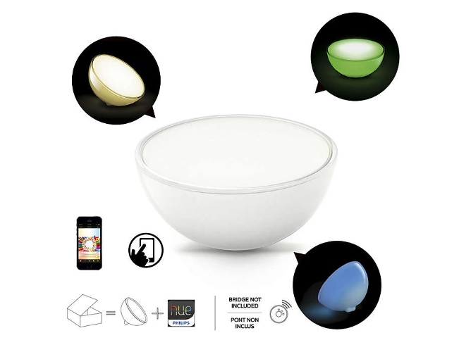 Philips Hue Go Interruptor Smart Button luz blanca y de colores L/ámpara de mesa LED inteligente con conexi/ón inal/ámbrica