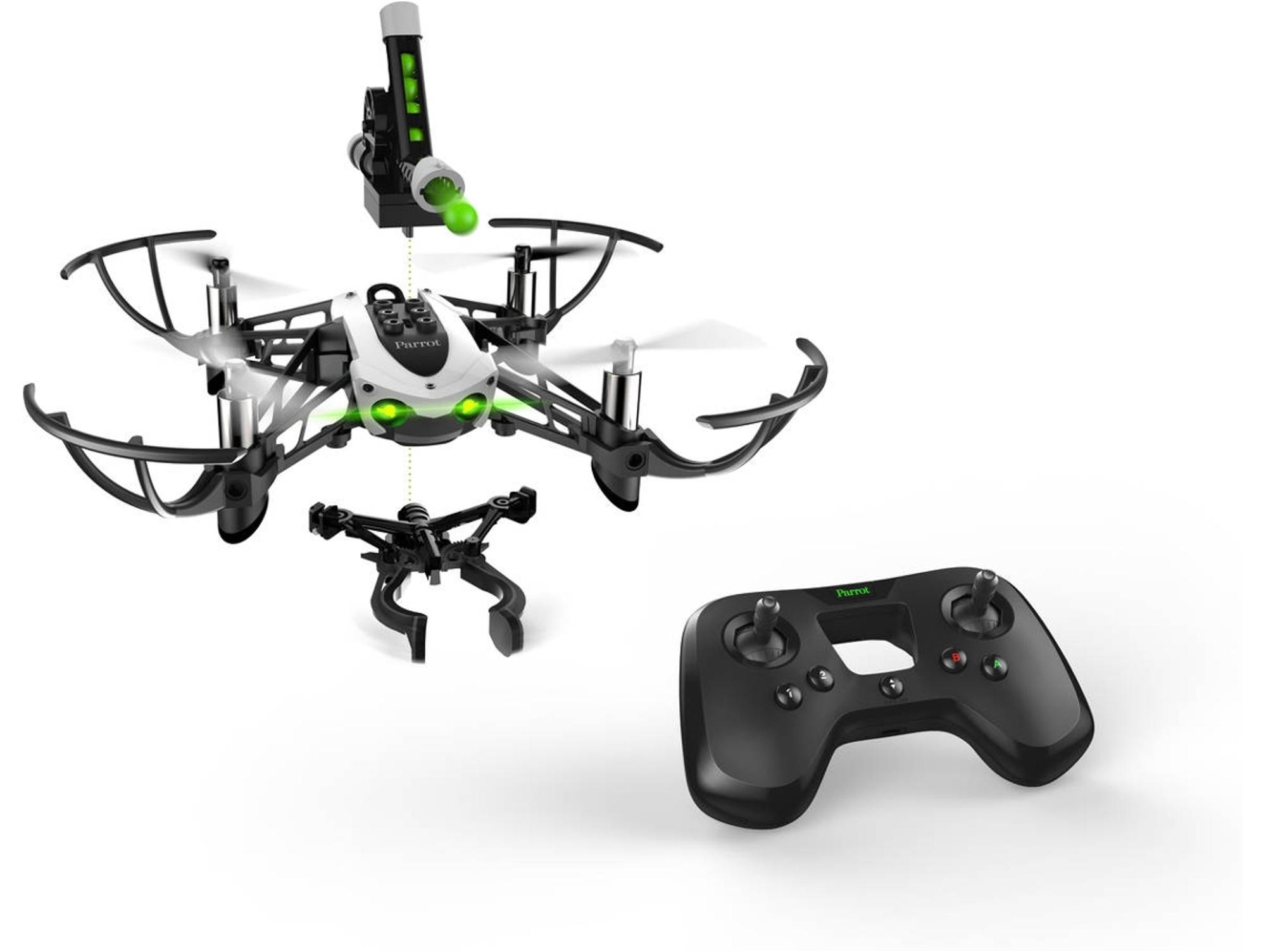 Algunos drones como este Mini Drone PARROT Mambo Mission tienen muchos accesorios que multiplican la diversión