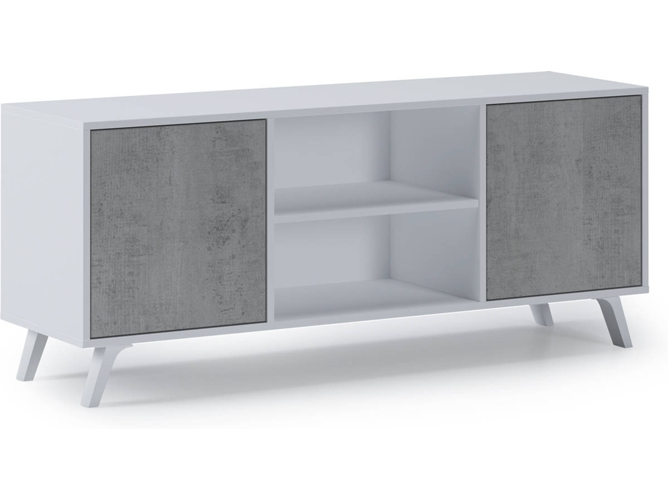 Mueble de TV INNOVATION HOME FURNISH Wind (137x40x57cm - Melamina - Blanco)