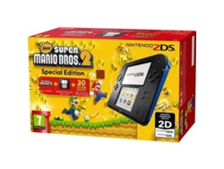 Nintendo 2DS Azul + New Super Mario Bros 2 — 4 GB