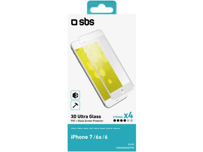 4354211f86a Protector de pantalla Cristal Templado SBS para APPLE iPhone 7 Negro ...