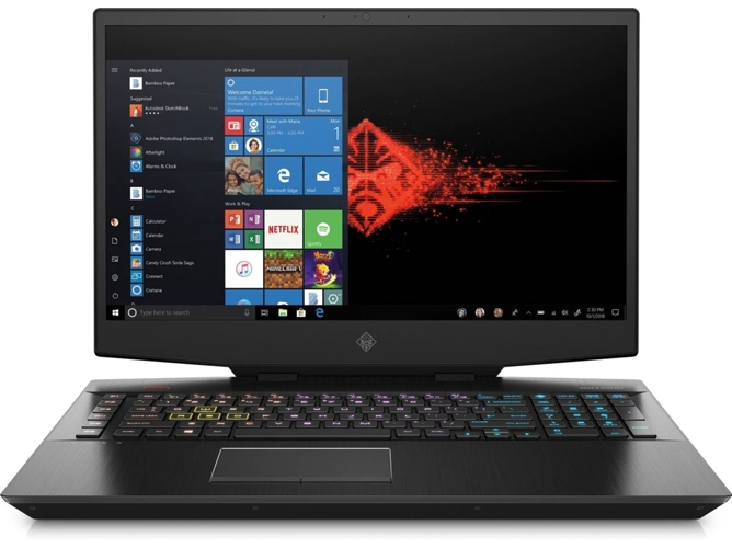 Portátil Gaming HP OMEN 17-CB1002NS (Intel Core i7-10750H - NVIDIA GeForce RTX 2060 - RAM: 16 GB - 512 GB SSD PCIe - 17.3'')