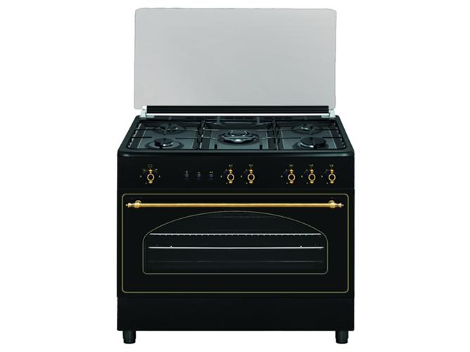 Cocina de gas 5 quemadores vitrokitchen ru9060b worten for Cocina de gas profesional