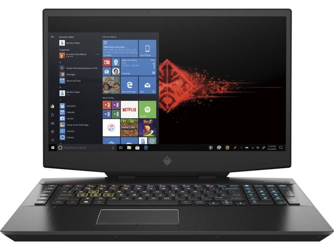 Portátil Gaming HP OMEN 17-CB0020NS (Intel Core i7-9750H - NVIDIA GeForce GTX 1660 Ti - RAM: 16 GB - 512 GB SSD - 17.3'') — Windows 10 Home