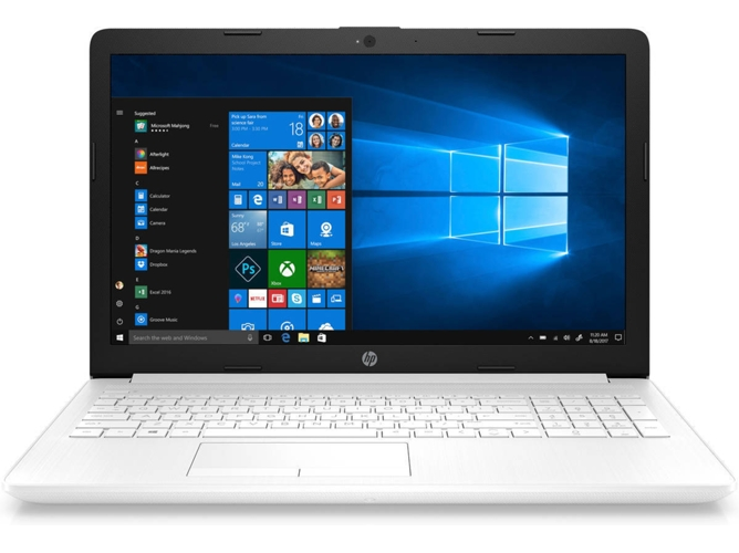 Portátil HP 15-DA0213NS - 6HW11EA (15.6'' - Intel Core i3-7020U - RAM: 4 GB - 256 GB SSD - Intel HD 620) — Windows 10 Home | HD