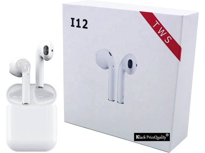 Auriculares Bluetooth True Wireless KLACK I12 (In Ear - Blanco)