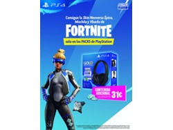 Auriculares PS4 Gold Wireless Headset Fortnite Voucher — .