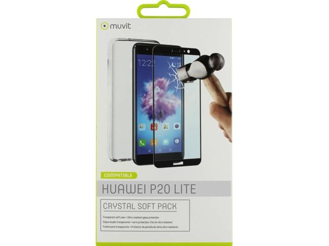 4d79a34042e Carcasa y Protector de Pantalla Huawei P20 Lite MUVIT Crystal soft  Transparente