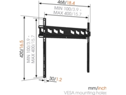 "Soporte de Pared para TV VOGELS MA3000-B1 (Fijo - de 32"" a 55"" - Hasta 60 kg) — De pared 
