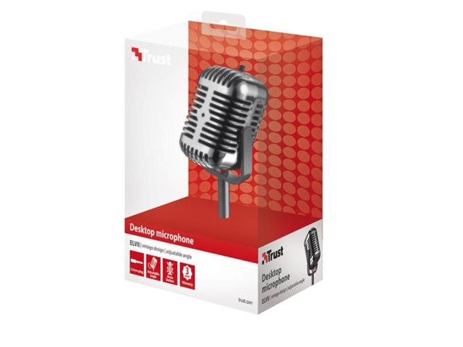 Micrófono TRUST Elvii Desktop (Cable - Plateado). Ampliar imagen 8ed055e1d6ec