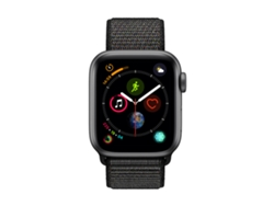 APPLE Watch S4 GPS 40 mm Aluminio en Gris Espacial y Correa Loop Deportiva Negra
