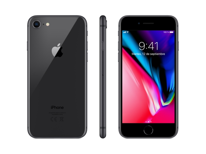iPhone 8 APPLE (4.7'' - 2 GB - 64 GB - Gris Espacial) — 2 GB RAM | Single SIM | 1 Cámara trasera