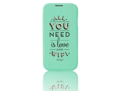 Funda Libro  MR WONDERFULpara Samsung Galaxy S4 Verde