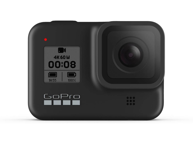 Cámara deportiva GOPRO Hero 8 Black (4K - 12 MP - Wi-Fi y Bluetooth)