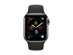 APPLE Watch S4 GPS (LTE) 40 mm Acero Inoxidable en Negro Espacial y Correa Deportiva Negra