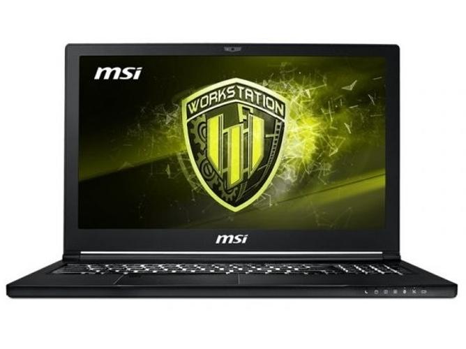 Portátil Gaming MSI WS63 8SK(Vpro)-008ES (Intel Core i7-8850H - NVIDIA Quadro P3200 - RAM: 32 GB - 1 TB HDD + 512 GB SSD - 15.6'')