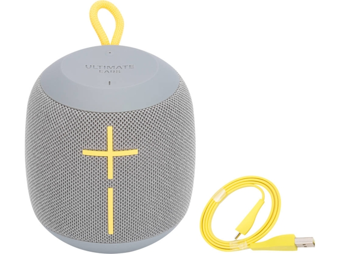 Altavoz Bluetooth ULTIMATE EARS Wonderboom Stone (Gris - 85 W - Alcance: 30 m - Autonomía: 9 h) — Bluetooth | Potencia: 85 W