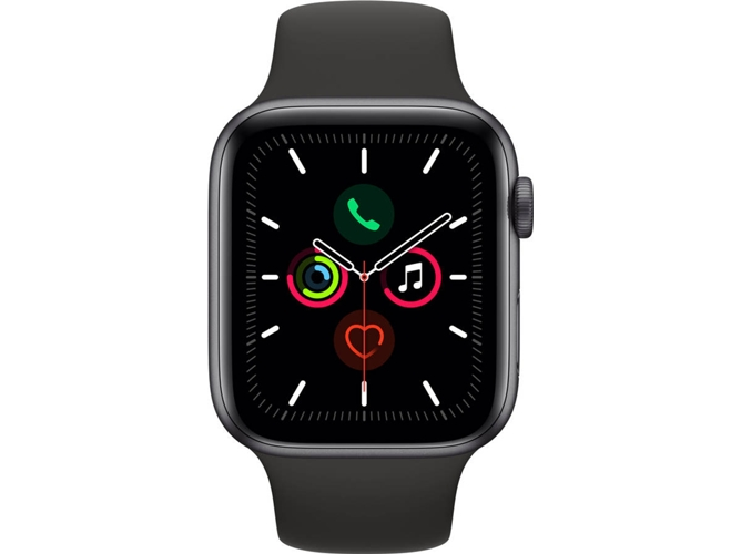 APPLE Watch Series 5 GPS 44 mm Aluminio gris, negro
