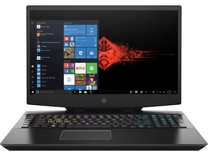 Portátil Gaming HP Omen 17-CB0020NS - 7SC15EA (17.3'' - Intel Core i7-9750H - RAM: 16 GB - 512 GB SSD - NVIDIA GeForce GTX 1660 Ti) — Windows 10 Home | Full HD