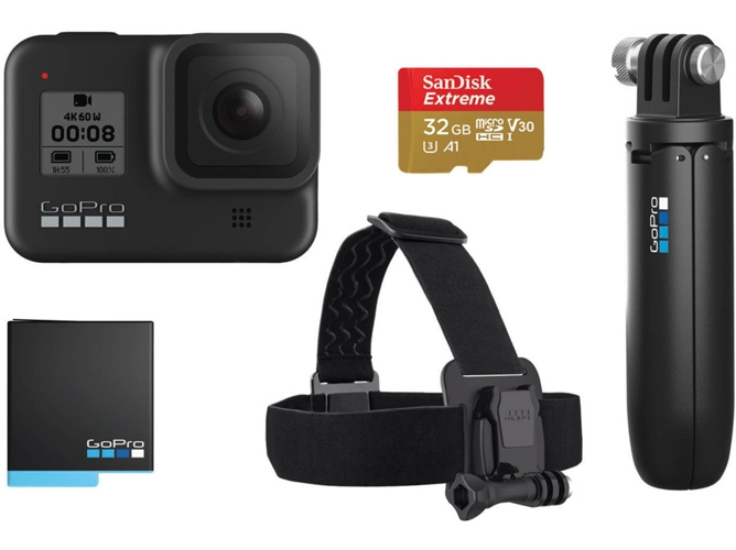 Cámara deportiva GOPRO Hero 8 Black Bundle