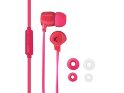 Auriculares con cable KSIX Go&Play Small2 rosa