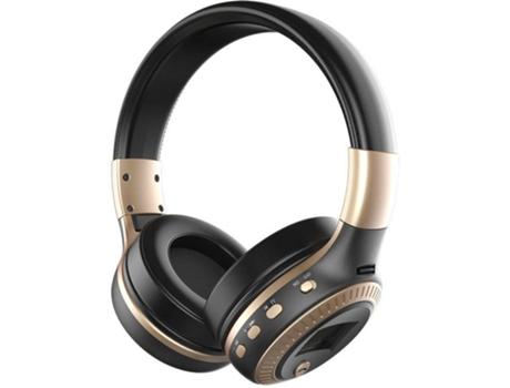 Auscultadores Bluetooth ZEALOT B19 (On Ear - Micrófono - Negro)