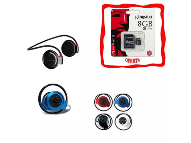 Auriculares Bluetooth KLACK AU510 entrada SD (Negro)