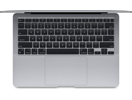 Macbook Air APPLE Gris Espacial - MGN63Y/A (13.3'' - Apple M1 - RAM: 8 GB - 256 GB SSD - Integrada) — MacOS Big Sur