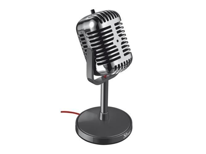 Micrófono TRUST Elvii Desktop (Cable - Plateado) - WORTEN 76d462437400