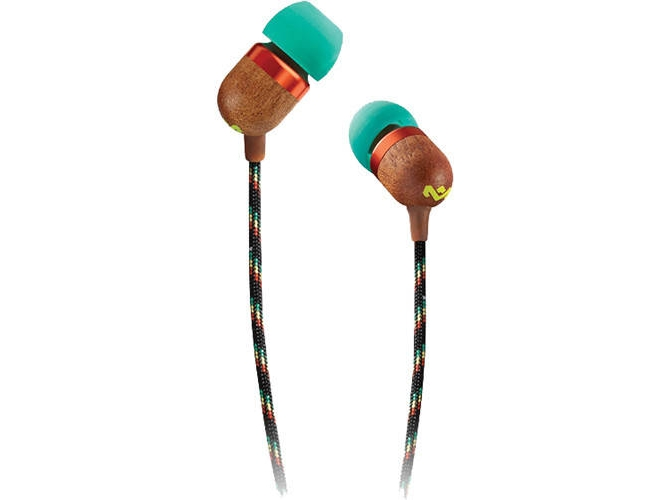 Auriculares con cable THE HOUSE OF MARLEY Smile Jamaica (In Ear - Micrófono - Verde)