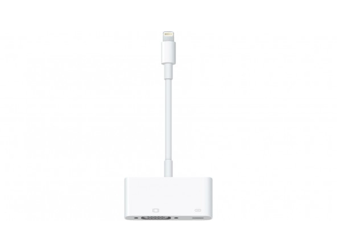 Adaptador APPLE MD825ZM/A (iPad - Lightning - VGA - 2 Puertas) — Lightning