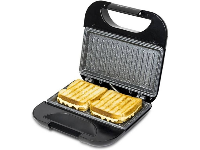 Sandwichera CECOTEC Rock n' Toast Square (750 W) — 750 W | N.º de sandwiches: 2