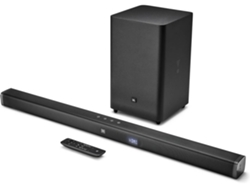 Barra de Sonido JBL  BAR21BLKEP (300 W - Canales: 3 - Subwoofer: inalámbrico - Bluetooth)