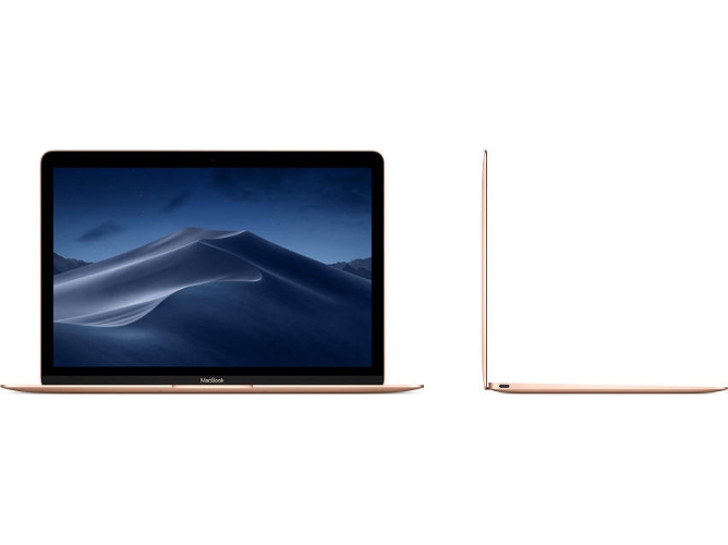 MacBook Pantalla Retina APPLE Oro 2018 (12'' - Intel Core i5 - RAM: 8 GB - 512 GB SSD - Intel HD 615) — OS Mojave
