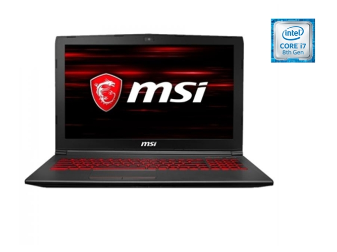 Intel Core i7-8750H, 8 GB RAM, 256 GB SDD, 1 TB HDD, Nvidia GeForce GTX 1050Ti Teclado QWERTY Espa/ñol MSI GV62 8RD-011XES Negro Ordenador port/átil de 15.6 Full HD