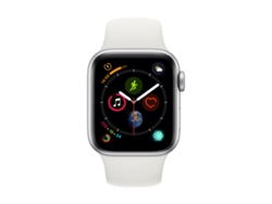 APPLE Watch S4 GPS (LTE) 40 mm Aluminio en Plata y Correa Deportiva Blanca