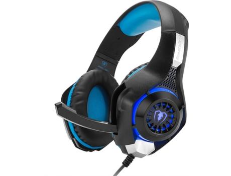 Auscultadores Con Cable OHPA GM-1 (On Ear - Micrófono - Negro y Azul)