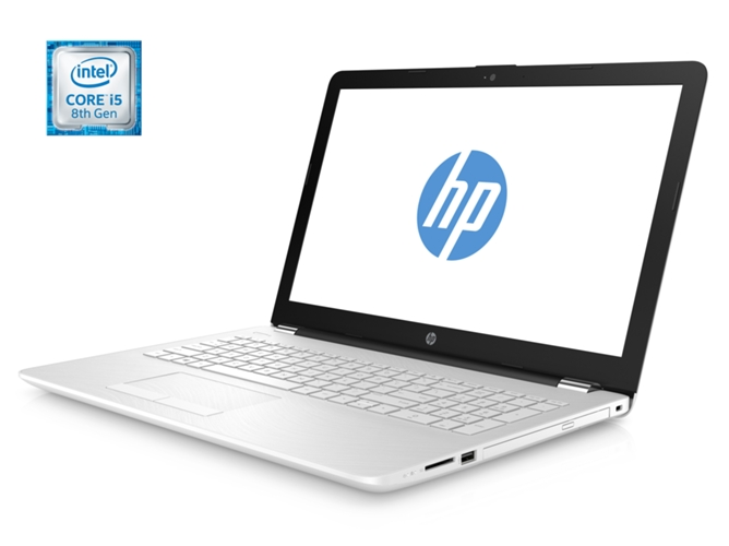 Portátil 15,6'' HP 15-BS122NS Blanco Nieve  ( i5-8250U, 8 GB RAM, 1 TB HDD )