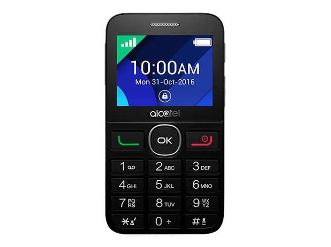 d0a602279eb Teléfono móvil ALCATEL 20.08G (2.4'' - 2G - Negro)