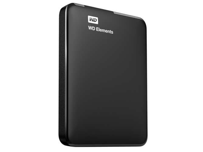 Disco HDD Externo WESTERN DIGITAL Elements (Negro - 1 TB - USB 3.0) — 2.5'' | 1 TB