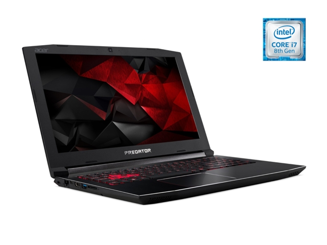 Portátil Gaming 17.3'' ACER PH317-52-78X3 (i7, RAM: 16 GB, Disco duro: 1 TB HDD + 256 GB SSD)