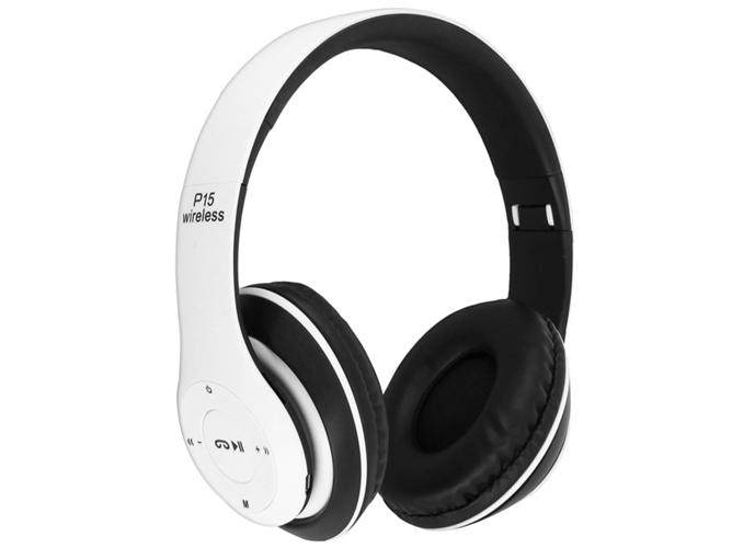 Auriculares Bluetooth AVIZAR P15 (On ear Micrófono Blanco)