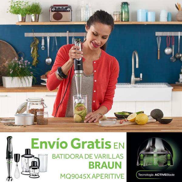 Batidora de varillas braun mq9045x aperitive minipimer 9 - Licuadora worten ...