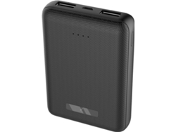 Powerbank KSIX Mini (10000 mAh - 2 USB - 1 MicroUSB - Negro)